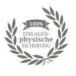100 % Einlagen-physische-Sicherung